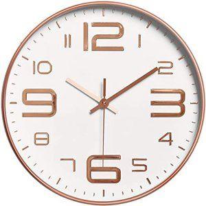 Foxtop Modern Wall Clock, 12 inch Silent Non-Ticki